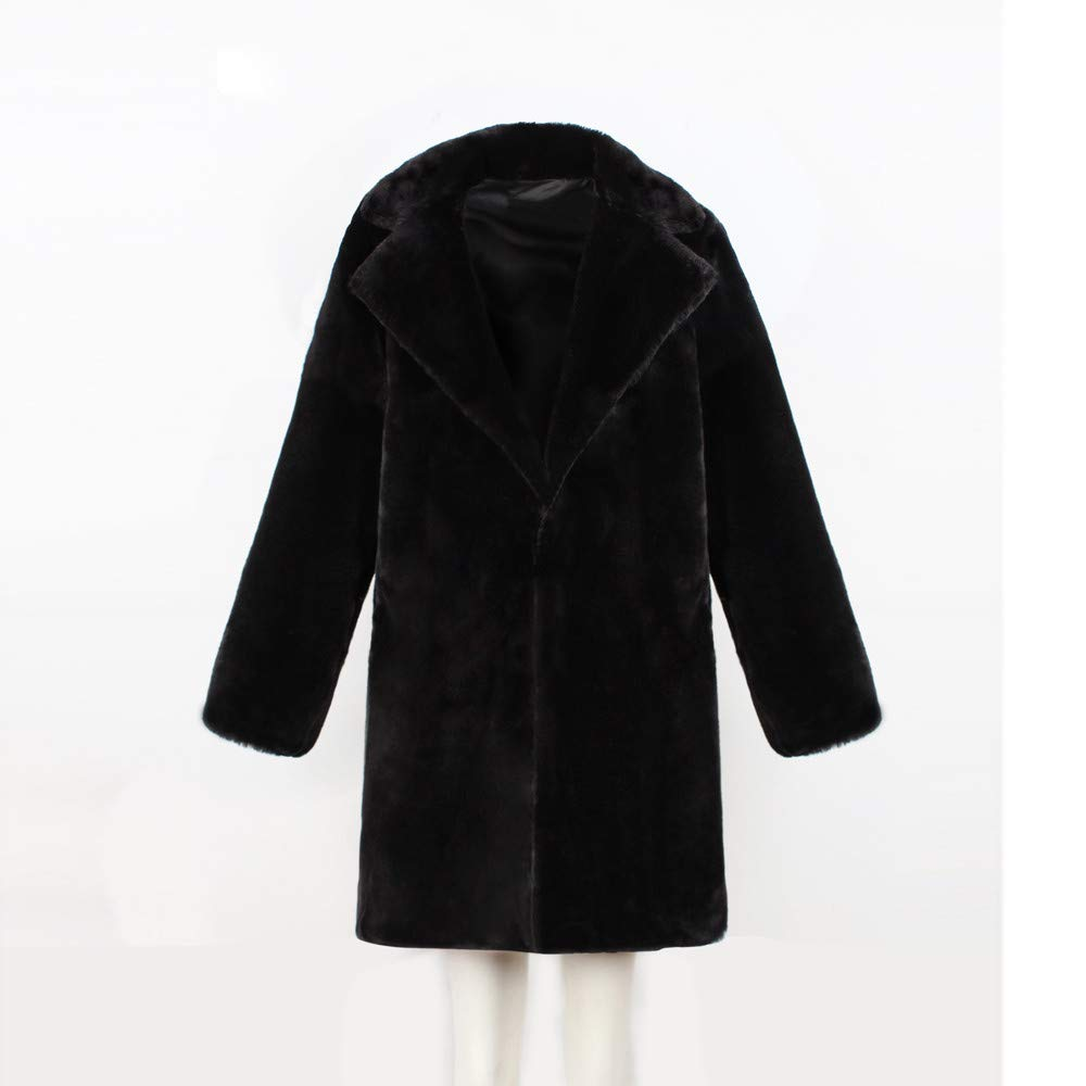 Womens Warm Long Faux Fur Coat Jacket JMETRIE Parka Outerwear Pockets
