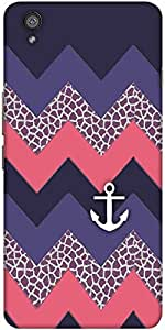 Snoogg Awesome Chevron Designer Protective Back Case Cover For One Plus X