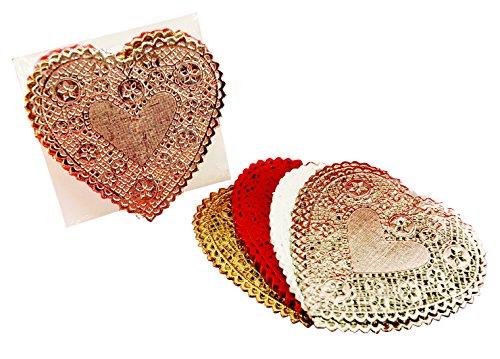 School Specialty School Smart Heart Shaped Paper Lace Doi...