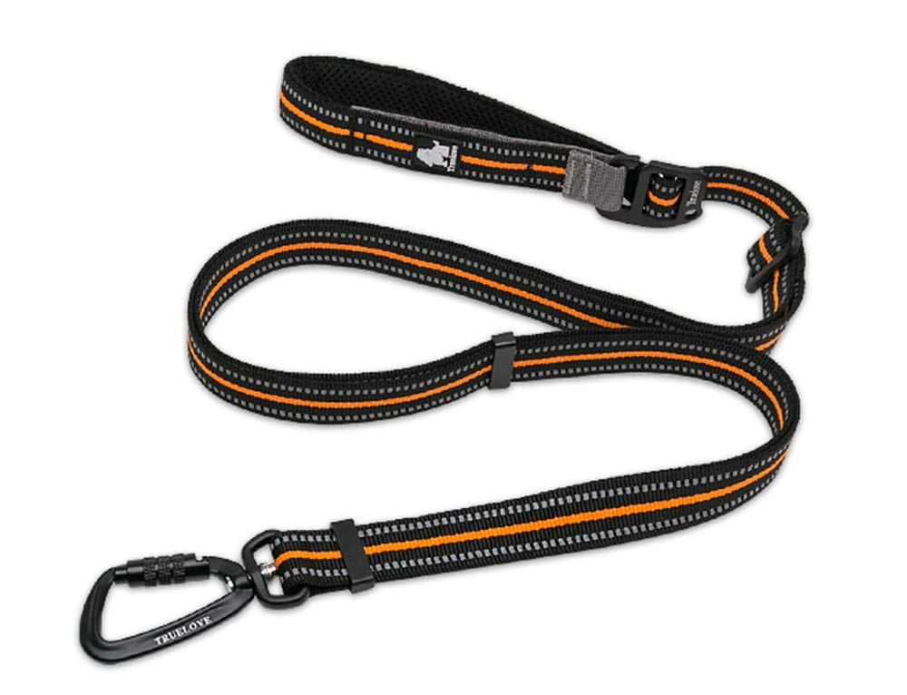 Clumsypets Dog Leash with Padded Handle,Pet Training Lead with 3M Reflective Double Handle for Traffic Control Safety,Perfect for Large Medium or Small Dog for Night Walking (Orange)