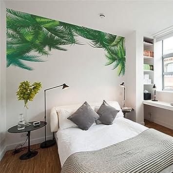 JMHWALL Grüne Palme Wandaufkleber Wohnzimmer Schlafzimmer TV Hintergrund  Dekor Tapetensticker Kunst Home Decor 3d Poster