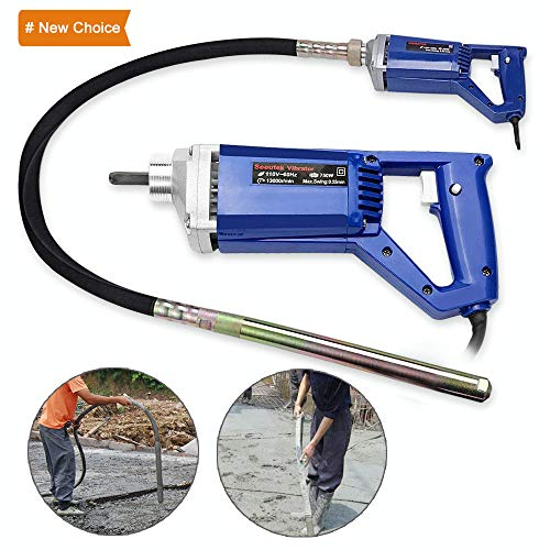 Hand Held Concrete Vibrator 1 HP 750W Electric Vibrator 13000 Vibrations per Minute ()