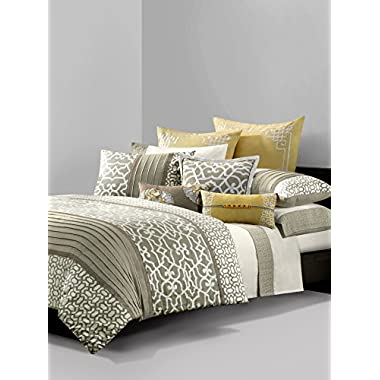 N Natori 10 Piece Fretwork Comforter Set, Multicolor, King