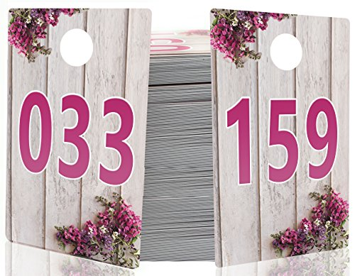 Large Live Sale Number Tags Bundle for Facebook Live Sales and LuLaroe Supplies, Normal and Reversed Mirrored Image, Reusable Hanger Cards, 200 Consecutive Numbers (001-200)