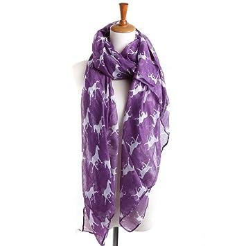 f7696748fedf17 YsTmS Frauen Pferd Print Schal Damen Lange Wrap schöne dünne Schal Design  Schals,Lila