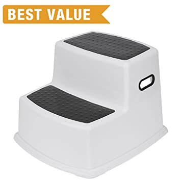 ACKO Toddler Dual Height Step Stool Children Non Slip Two Levels Step Stool Toddler Stool for  sc 1 st  Amazon.com & Amazon.com: ACKO Toddler Dual Height Step Stool Children Non Slip ... islam-shia.org