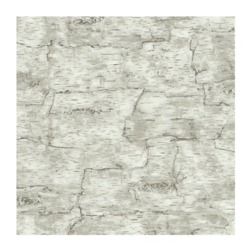 York Wallcoverings Lake Forest Lodge Birch Bark Removable Wallpaper, Off White -