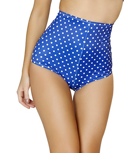 Roma Costume Women's Pinup Style High-Waisted Shorts, Blue/White, X-Large