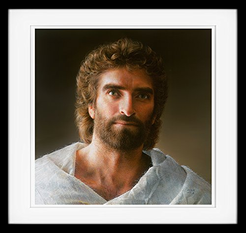Newest Jesus Art by Akiane Kramarik, Framed, Double Matted, 16-inch x 16-inch, Fine Art Print