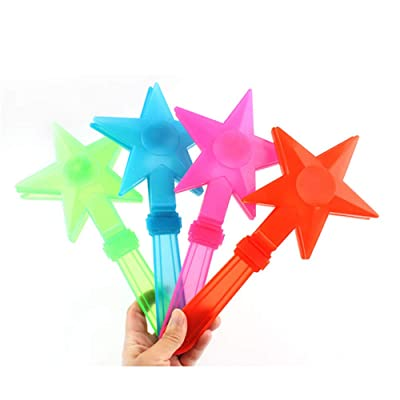 Softmusic 1Pc Colorful Star LED Hand Clapper Noise Maker Flash Light Glow Stick Party Concert Favor Toys: Toys & Games