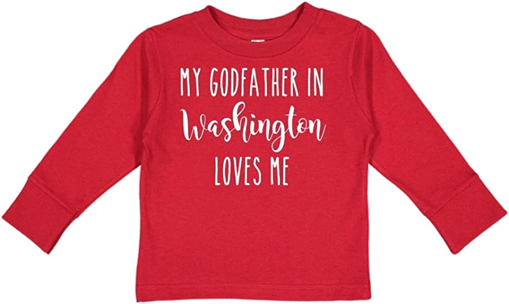 My Godfather in Washington Loves Me Toddler//Kids Long Sleeve T-Shirt