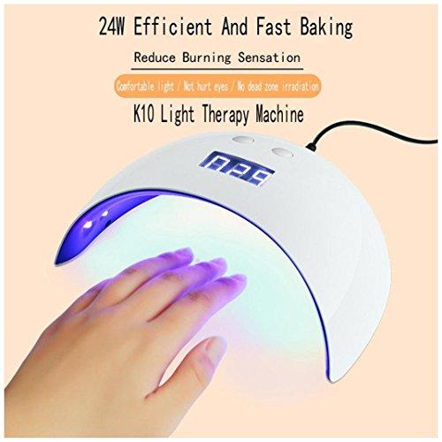 Rambling Gel Nail Light, Protable USB 24W 12 LED UV Drying C