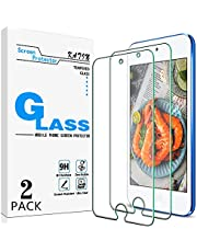 [2-Pack] KATIN for Apple iPod Touch 7th Generation, 6th Gen, 5th Gen Tempered Glass Screen Protector No-Bubble, 9H Hardness, Easy to Install