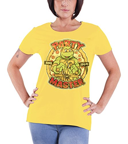 Ninja Turtles Womens T Shirt (Teenage Mutant Ninja Turtles T Shirt Party Master Official Womens Junior Fit)