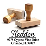 Wood Stamper, Personalized Custom Wooden Handle Return Mail Address Stamp. Elegant Gift for Business, Real Estate Clients, Teachers and Family, Newlyweds or for Wedding Invitations