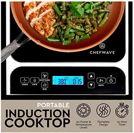 Amazon.com: ChefWave CW-IC01 Quemador portátil de inducción ...