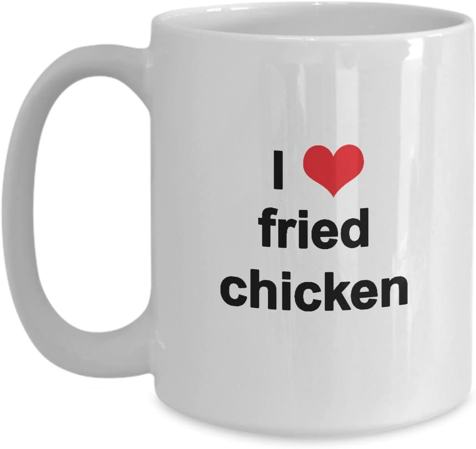 I Love Heart Fried Chicken Mug