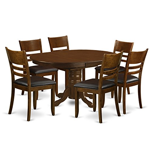 East West Furniture KELY7-ESP-LC 7 Piece Set Kenley With One 18