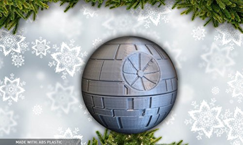 Death Star Christmas Tree Topper 3D Printed