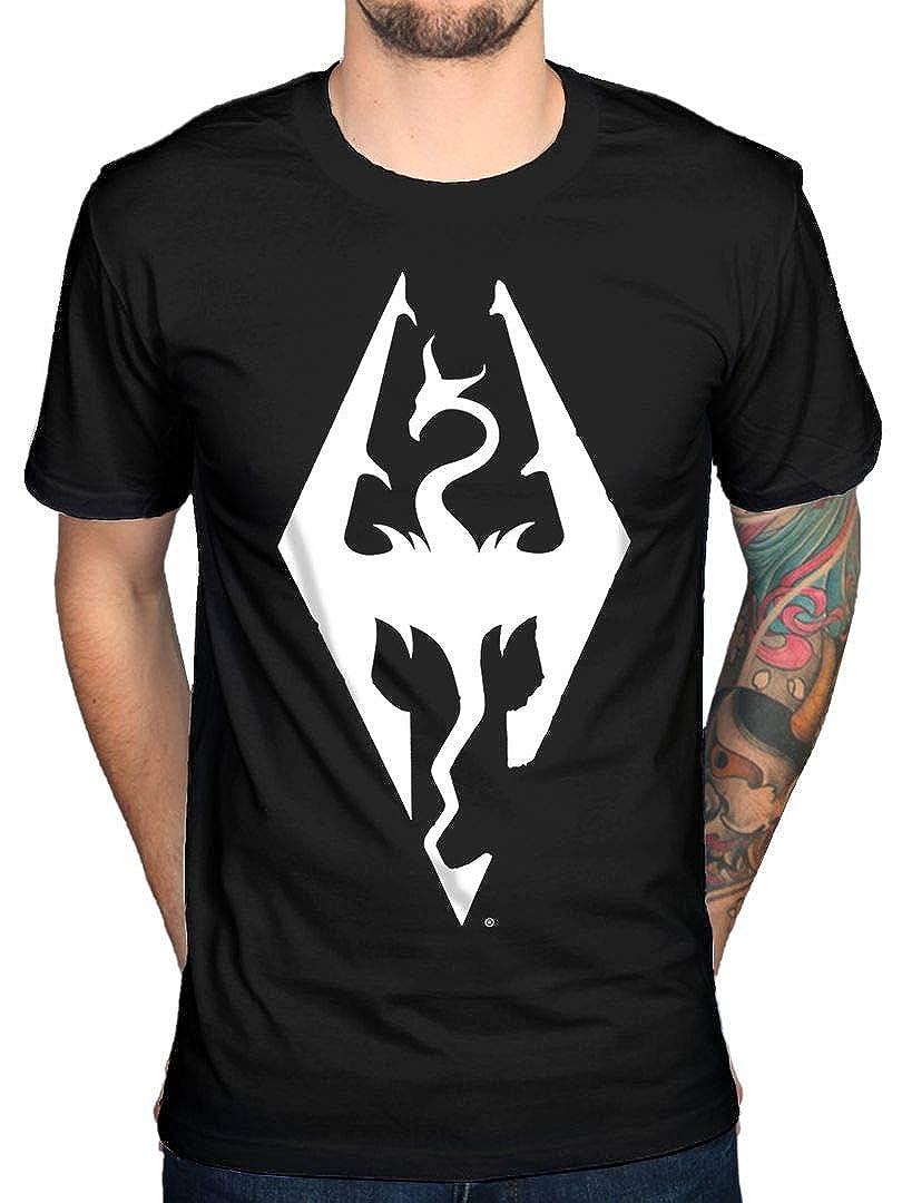 AWDIP Oficial Skyrim Dragon Logo T-Shirt: Amazon.es: Ropa y ...