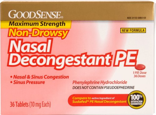 Good Sense Non Drowsy Nasal Decongestant Pe Case Pack 24