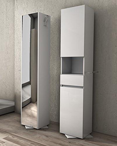 Columna 190 x 33 giratorio hx35 mueble de baño en color blanco y ...