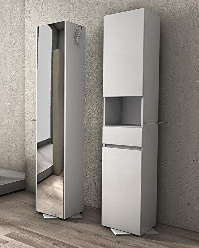 Colonna Girevole da 33x190hx35 bianca con specchio Mobile bagno ...