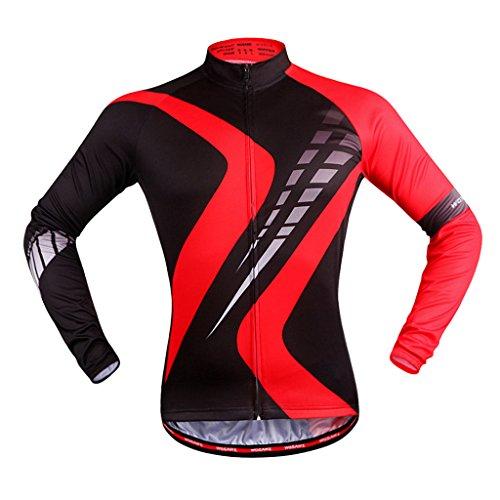 家一般化するマッサージDovewill 男性 サイクリング服 自転車 ジャージー スポーツウェア 長袖 トップ  シャツ アウトドアスポーツ 全5サイズ