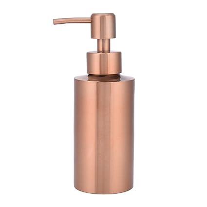 Fdit Dispensador de jabón de acero inoxidable para cocina, baño, encimera, bomba de