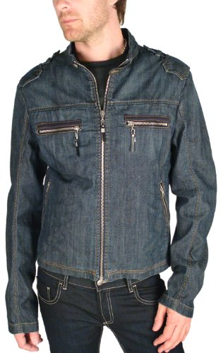 "C'N'C CoSTUME NATIONAL - ""Damon"" Denim Biker Jacket (M - 50)"