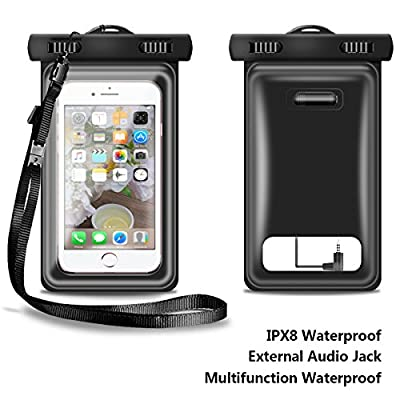 Waterproof Case, Floatable Dry Bag with Audio Jack for iPhone 7 Plus, 7, 6, 6 Plus, 6s,5s, and Other Up to 5.7 Inches Set of 2