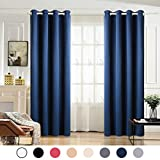 MAEVIS Blackout Curtains 2 Panels for Bedroom Grommet Top,Light Blocking Draperies Room Darkening Thermal Insulated Window Curtain for Living Room(W52xL84 inch,Navy) Review