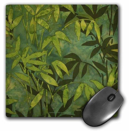 Bamboo Batik (Lee Hiller Designs Batik Print - Emerald Bamboo Leaves Batik - MousePad (mp_5254_1))