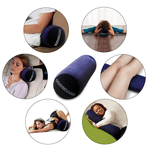 Evercharm-Bolster-Roll-Pillow-Yoga-Pillow-for-Women-Magic-Long-Round-Cushion-aid-for-Couples-Positioning-for-Deeper-Supportive-Inflatable-portable-Bolster-roll-MISSTU
