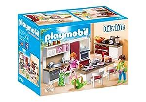 Playmobil casa moderna cocina multicolor 9269 amazon for Casa moderna playmobil 9266
