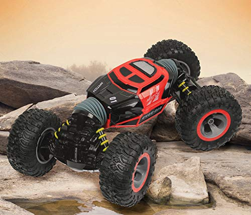 Click N' Play Remote Control RC Car Double Sided Off Road Stunt Rock Crawler Non Slip Vehicle 4WD 2.4Ghz (Colors May Vary) ()