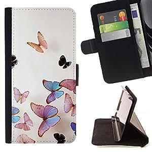 Seiko Arte de la Mariposa del Vuelo de Primavera Crayon Tiza- Modelo Colorido Cuero de la Carpeta del tirón del Caso Cubierta Piel Holster Funda protecció para LG Nexus 5 D820 D821
