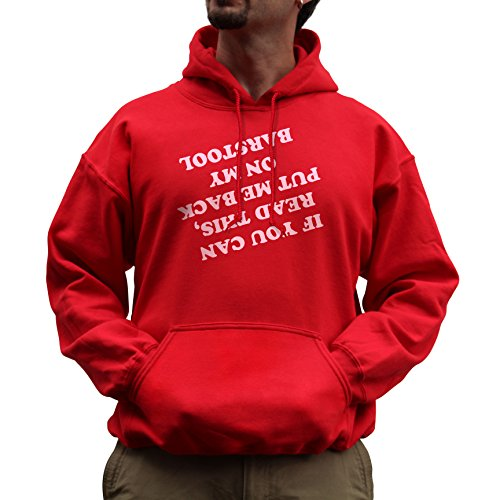Red Irish Bar Stools - Nutees Unisex If You Can Read This Put Me Back Barstool Funny Hoodie Red XXLarge