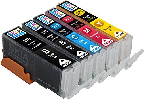 Skia Pixma MG5720, MG6820, MG6821, TS5020, TS6020 Compatible Ink Cartridges. 1 Pigment Black, 1 Black, 1 Cyan, 1 Magenta, 1 Yellow. (5 Pack)