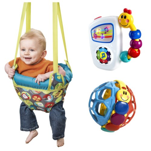 Evenflo Johnny Jump Up Doorway Jumper with Baby Einstein Activity Toys