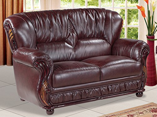 Meridian furniture mina loveseat burgundy sofas and couches olivia decor decor for your - Meridian office furniture ...