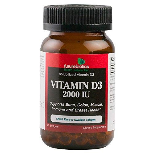 Futurebiotics Vitamin D3 2000 Iu Soft-gels, 120-Count
