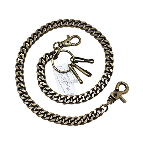 Basic Curb Cuban Link wallet chain Swivel Trigger snap Biker Punk Key chain (23 inch, Bronze) by Uniqsum (Image #1)