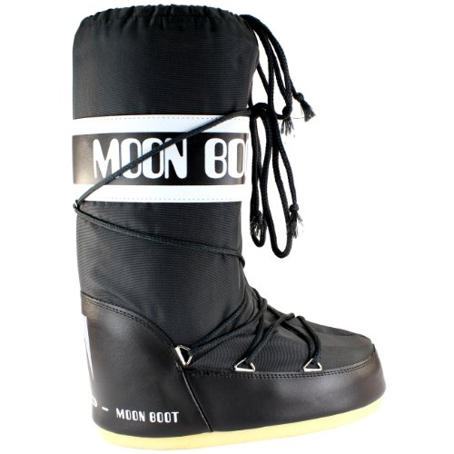 Mens Tecnica Moon Boot Nylon Waterdicht Half Kalfsneeuw Winter Regenlaars Antraciet
