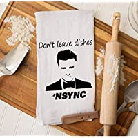 Justin Timberlake Gifts, Funny Housewarming, NSYNC Christmas, Kitchen Dish Towel, Christmas Gifts for Best Friend