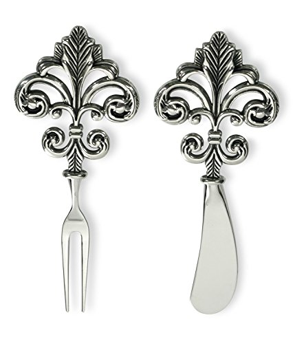 Celebrate the Home Stainless Steel Fork and Spreader, Fleur De Lis, 2-Piece Set