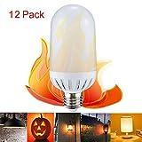 Alonea LED Flame Fire Light Effect Simulated Nature Corn Bulbs E26/E27 Decoration Lamp (12 Pack)