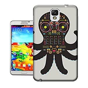 DJ Octopus Hard Cover Case for Samsung Galaxy Note 3 Designed by Bradley's Shop