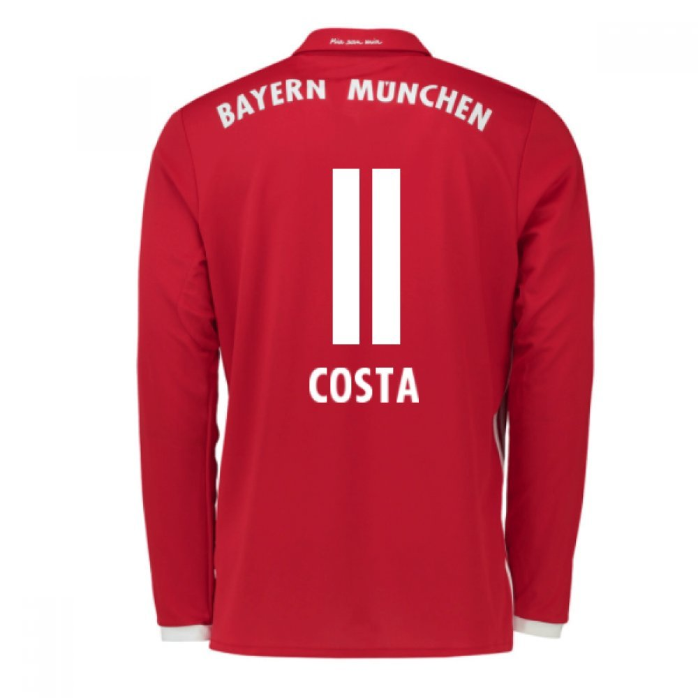 2016-17 Bayern Munich Long Sleeve Home Football Soccer T-Shirt Trikot (Douglas Costa 11) - Kids