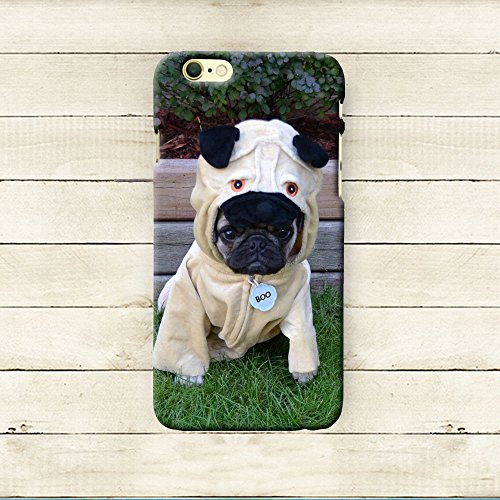 iphone6/6s iPhone 7 Case Cute,iPhone 7 Case Cool, Anti-Scratch Slim Flexible Rubber Cases Cover for Apple iPhone 7 4.7 Inch, Creative,448.546 Pug In A Pug Costume by (Cute Pugs In Costumes)